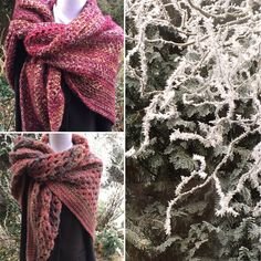 Really cold here in the Netherlands, a beautiful frozen world. A perfect background for to display warm wraps & shawls :)