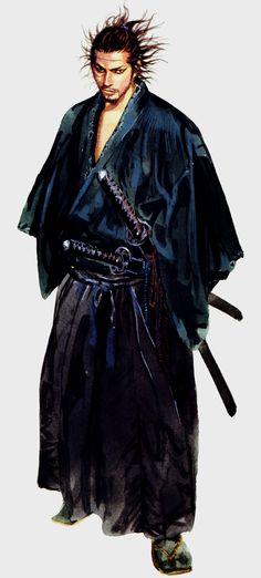 """Takehiko Inoue / 井上雄彦 — ( 1996 – Current ) """"Vagabond"""" / """"バガボンド"""" Illustration [ Miyamoto Musashi / 宮本武蔵 ]"""