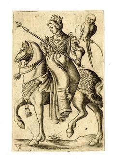 Carte à jouer d'après Virgil Solis, vers 1500