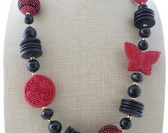 Agata rossa collana collana lunga double strand collana
