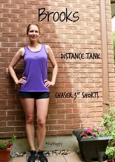 Brooks 3″ Chaser Shorts and Distance Tank Review #RunHappy