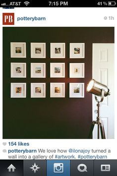 White square frame collage