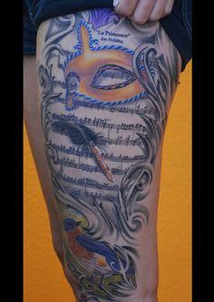 venetian mask vivaldi tattoo