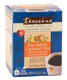 Caffeine Free Chicory Herbal Coffee Hazelnut Teeccino Medium Roast 3 Pack!