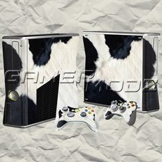 Cow XBOX 360 Skin Set - Console with 2 Controllers
