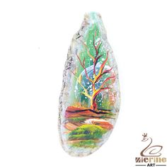 Creative handmade  Jewelry Pendant Hand Painted scenery stone necklace ZL804203 #ZL #Pendant