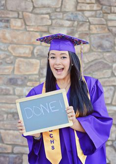 DONE! Senior Portrait Graduation Photography High School College Seniors Portraits Candid