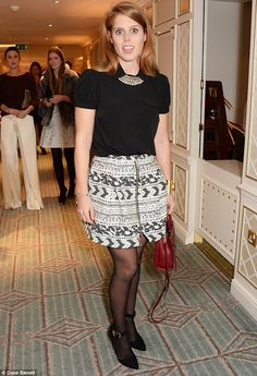 Princess Beatrice at the launch of a new fashion blog in Fortnum & Mason