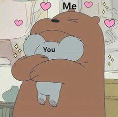 63 Ideas For Memes Apaixonados Animais Bear Wallpaper, Cartoon Wallpaper, Iphone Wallpaper, Cartoon Memes, Cute Cartoon, Funny Memes, Cartoons, We Bare Bears Wallpapers, Cute Wallpapers