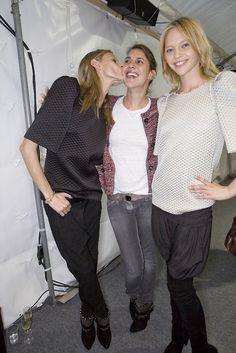 Isabel Marant with models backstage