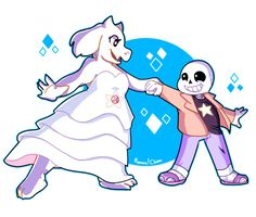 Yas But this is really cute. Toriel and Sans - Steven Universe parody