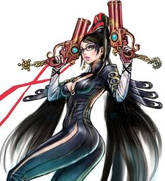 1264 best gamer images on pinterest videogames games and bayonetta black hair breasts cleavage eyeshadow glasses gun large breasts makeup mole mole under mouth solo weapon yamashita shunya zoom layer image view gumiabroncs Images