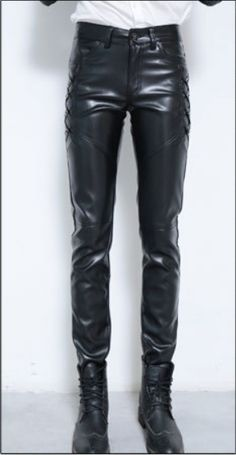 #Male #Hip #Hop #Style #Genuine #Black #Leather #Pencil #Pants Mens Leather Pants, Hip Hop Fashion, Character Design, Black Leather, Pencil, Shorts, Outfits, Style, Leather Pants