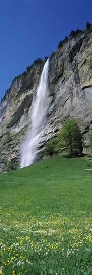 Murrenbach Falls, Lauterbrunnen Valley, Berne Canton, Switzerland at FramedArt.com