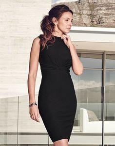 Michelle Keegan Turtleneck Bodycon Dress