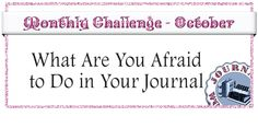 This month the topic in our Monthly Challenge Group is that important I made art journal page video tutorial for it. So if you're feeling brave enough click the link below & open up to the question 'What Are You Afraid To Do In Your Art Journal?' http://journalworkshops.ning.com/group/monthly-challenge/forum/topics/october-2015