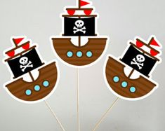 Artículos similares a Pirate Invitation, Pirate Birthday Party, Pirate Party Set, Pirate invite, Ship, Pirate Centerpieces, Pirate Decoration, Pirate decor (P2) en Etsy Pirate Birthday, Pirate Theme, 7th Birthday, Party Set, Baby Party, Party Time, Pirate Invitations, Thank You Cards From Kids, Birthdays