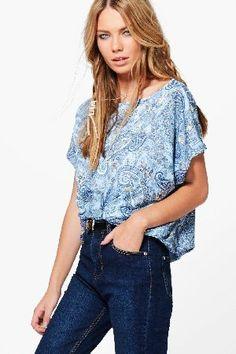boohoo Paisley Print Slash Neck T-Shirt - blue DZZ60401 Kiera Paisley Print Slash Neck T-Shirt - blue http://www.MightGet.com/january-2017-13/boohoo-paisley-print-slash-neck-t-shirt--blue-dzz60401.asp