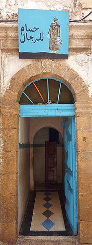 Medina Essaouira. Entrance to a hammam.