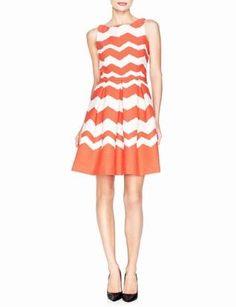 Chevron-Striped Dress | Women's Dresses | THE LIMITED