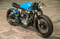 "Royal Enfield Cafe Racer built for ""Numero Uno Jeanswear"" by Rajiputana Custom Motorcycles 