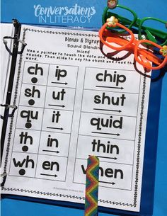 Blends and Digraphs Intervention Binder for RTI intervention groups, guided reading, and word work stations