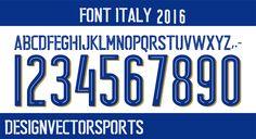 Jersey Font, Italy, Blog, Kit, Bathroom, Designer Fonts, Dinner Suit, Soccer, Sports