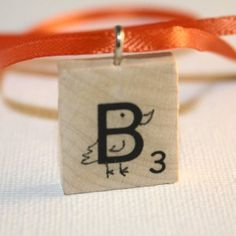 B is for Bird -- Scrabble Tile Necklace