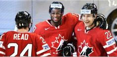 Simmer, Reader (assist), and Schenner (goal) for Canada in IIHF World Championships