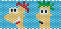 phineas and ferb bead pattern - for lauren