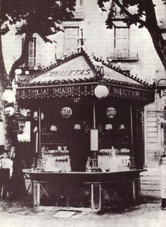 Quiosc de begudes de la Rambla de Canaletes, 1905