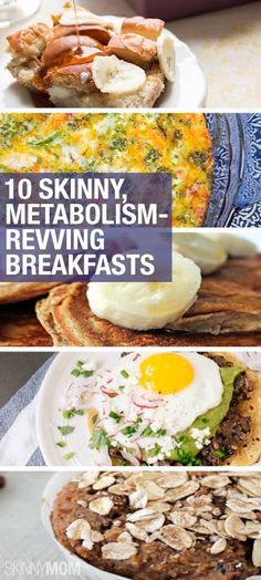 Boost your metabolism before you head out to work with these breakfasts!