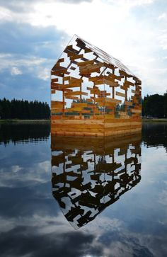 WALDEN RAFT | Elise Morin + Florent Albinet Designed between opacity and transparence, […] a space for experimentation – a floating, luminous, audible, mobile vessel. Public welcomed from June 13 until September 27, 2015 at Lac de Gayme. / via fubiz