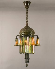 Moorish art nouveau chandelier by Tiffany Antique Lamps, Antique Lighting, Vintage Lamps, Tiffany Art, Tiffany Lamps, Art Deco Lamps, Art Deco Lighting, Lights Fantastic, Beautiful Lights