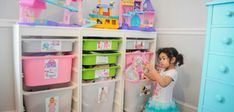 Pretty Real: Small Space Toy Storage Solution, Easy DIY Toy Labels, and a Peek at a Shared Kids' Room. Toy Storage Solutions, Storage Ideas, Playroom Closet, Toy Labels, Stuffed Animal Storage, Stuffed Animals, Space Toys, Creative Storage, Diy Toys