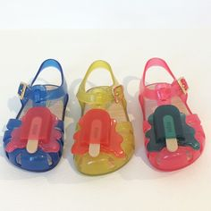 #minimelissa melted lolly shoes for the summer season #SS16 #pittibimbo #kidsfootwear #kidsfashion #melissa @shoesmelissa #pittibimbo81