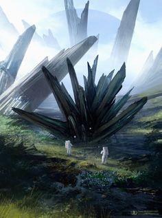 As ilustrações de ficção científica e fantasia com um toque surreal e sombrio de Tierno Beauregard