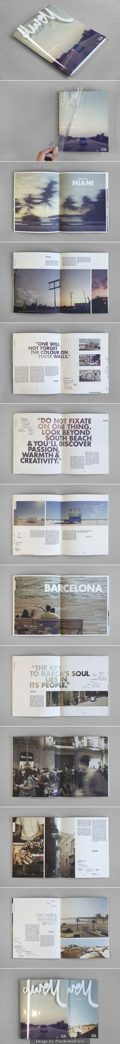 TRANSPARÊNCIA É ISSO - NOVOS FUNDAMENTOS DO DESIGN. Graphic design for 'Dwell - Coastal Cities Revisited' by Sidney Lim YX // Editorial design inspiration