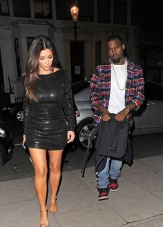 Kanye West & Kim/ I LOVE THIS PICTURE.  THE TWO OF THEM LOOK SO GOOD WHEN THEY ARE PHOTOGRAPHED AND ARE UNAWARE OF THE CAMERAS!  FOR REAL~!