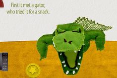 Fantastic interactive animal storybook app for kids with pages made from real art.