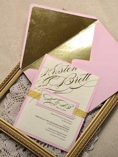 WEDDING INVITATIONS   #4lovepolkadots #weddinginvitations #glittergold #glitter #gold #wedding #sparks #stars #glamour #bridal #bridetobe #weddingideas #weddingstyle #goldglitter #weddings #luxury #bride #invitations #pink #pinkwedding