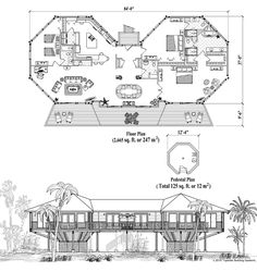 Online House Plan: 2915 sq. ft., 3 Bedrooms, 3 1/2 Baths, Classic Collection (CM-0406) by Topsider Homes.