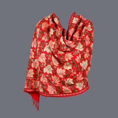 Featuring this Red Thread Work Jaal Wool Stole in our wide range of Stoles. Grab yourself one. Now!