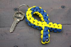 Down Syndrome Awareness Ribbon Paracord by TheSiegelShoppe on Etsy
