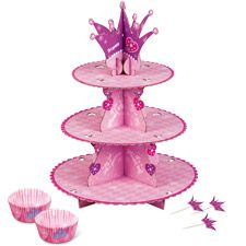 Our Princess Cupcake Stand Kit allows you to create an instant Princess Party! Each Princess Cupcake Kit contains a cupcake stand, baking cups and cupcake pics. Princess Party Cupcakes, Disney Princess Birthday Party, Princess Theme Party, Baby Shower Princess, Cupcake Party, Princess Cookies, Princess Tiara, Pink Princess, Wilton Cupcake Stand
