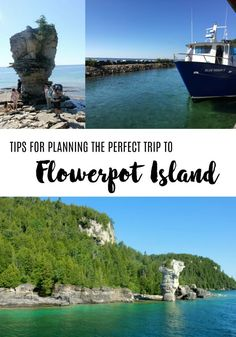 Tips for planning the perfect visit to Parks Canada and Fathom Five National Marine Park's Flowerpot Island off Tobermory, Bruce Peninsula, Ontario, Canada. A family friendly destination in southern Ontario for camping, swimming and hiking. Tobermory Canada, Tobermory Ontario, Canada National Parks, Parks Canada, Flowerpot Island, Manitoulin Island, Ontario Parks, Canadian Travel, Canadian Rockies