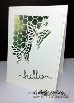 The CAS challenge this month at Happy Little Stampers is  Watercolour Spritzing     I made this card at the HLS Retreat in Swindon a few...