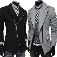 Trench coat in black or Grey.