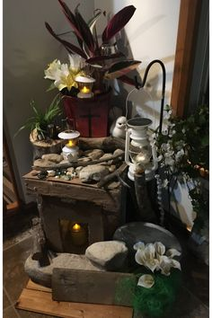 I went outside and found rocks and stones I used for around the tomb. Something To Do, The Outsiders, Rocks, Stones, Easter, Display, Billboard, Stone