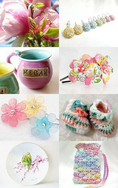 Spring Pastels by Mary Hopkins on Etsy--Pinned with TreasuryPin.com